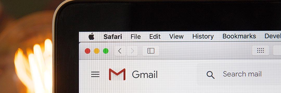 Gmail running in Safari Web Browser